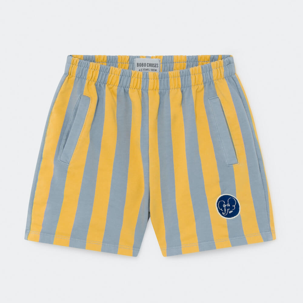 Bobo Choses Striped Fleece Bermuda Shorts | Tiny People