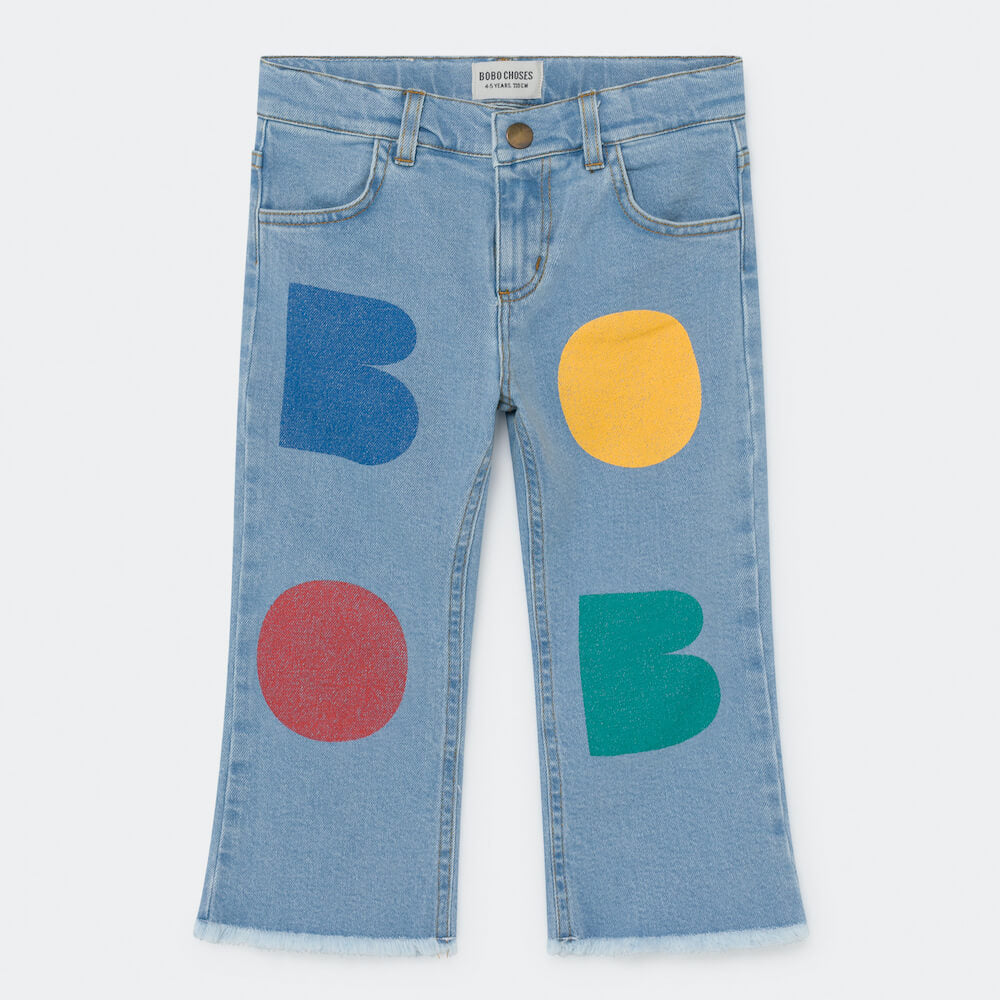 Bobo Choses Multicolor Bobo Flared Denim Pants | Tiny People