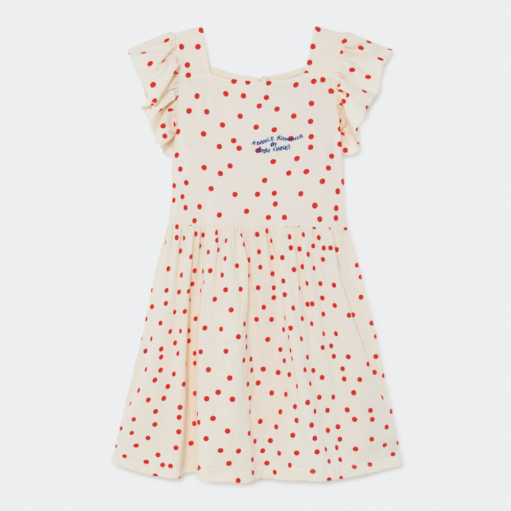 Bobo Choses Dots Jersey Ruffle Dress | Tiny People