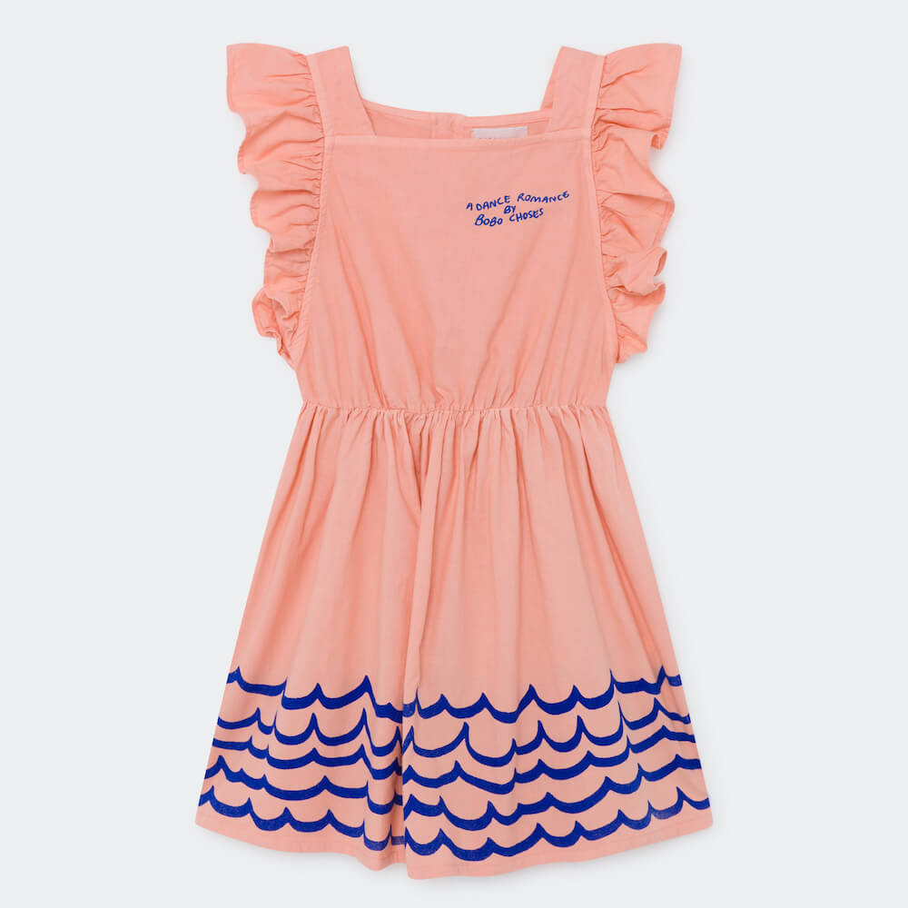 Bobo Choses Waves Woven Ruffle Dress | Tiny People