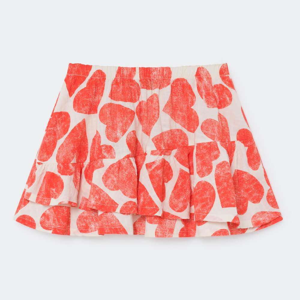 Bobo Choses All Over Hearts Ruffle Skirt | Tiny People