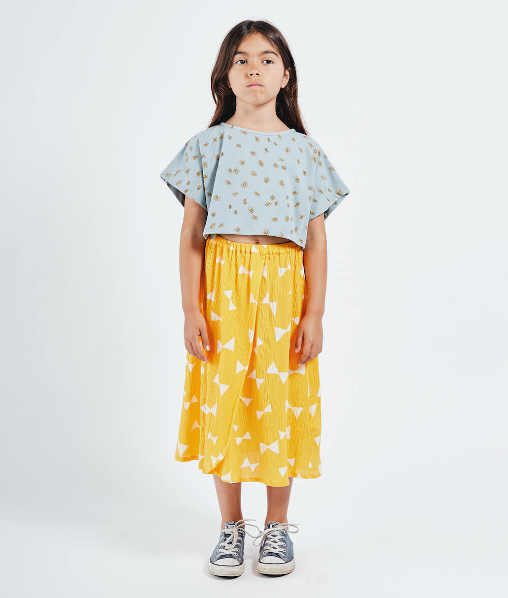 Bobo Choses All Over Bow Wrap Midi Skirt | Tiny People