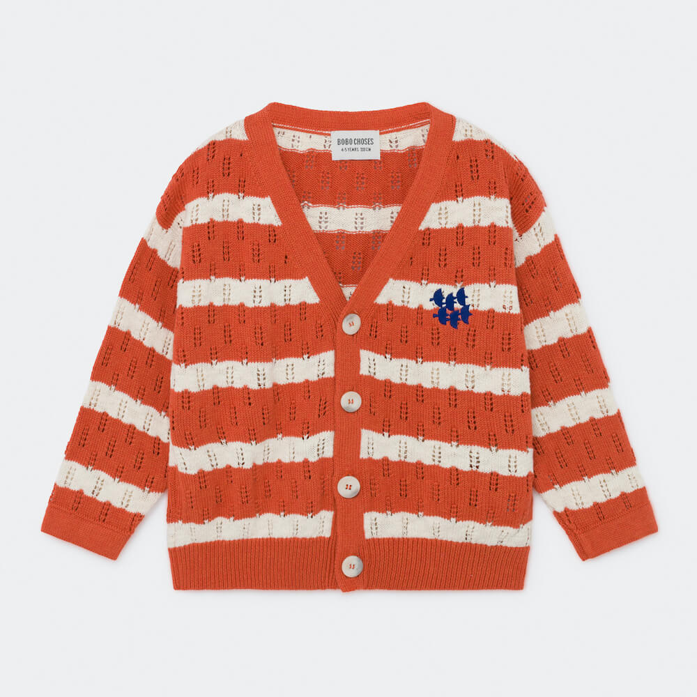 Bobo Choses Striped Knitted Cardigan | Tiny People
