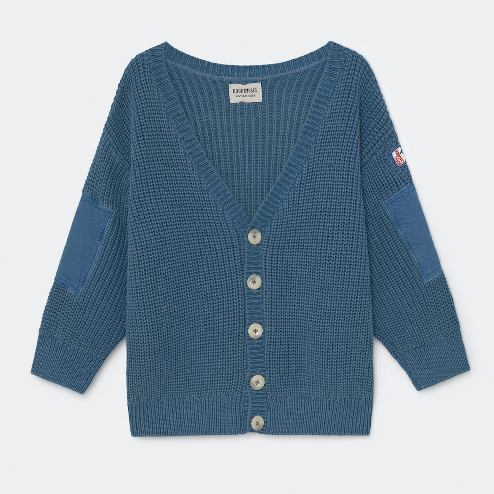 Bobo Choses Blue Knitted Cardigan | Tiny People
