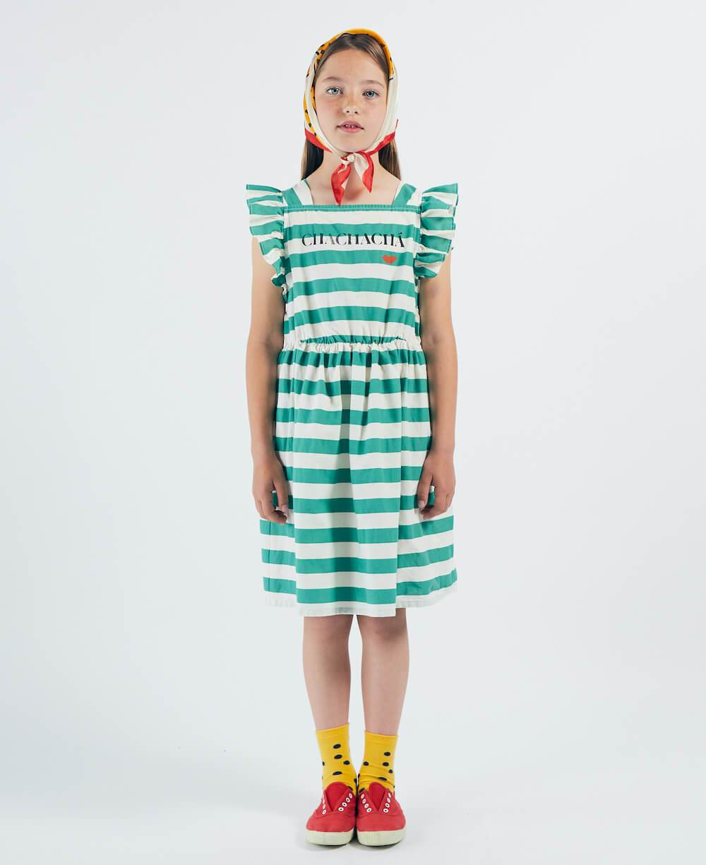 Bobo Choses Chachacha Kiss Woven Ruffle Dress | Tiny People