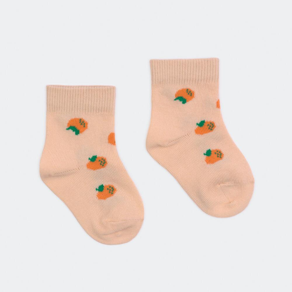 Bobo Choses All Over Oranges Short Socks | Tiny People