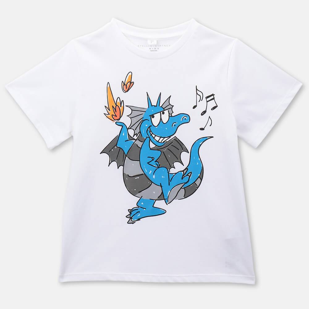 Stella McCartney Dragon Cotton SS Tee Tops & Tees - Tiny People Cool Kids Clothes