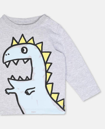 Stella McCartney Dragon Cotton LS Tee Tops & Tees - Tiny People Cool Kids Clothes