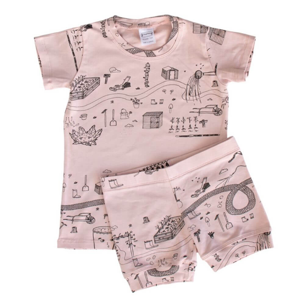 G. Nancy Rose Garden Shortie PJ Set | Tiny People