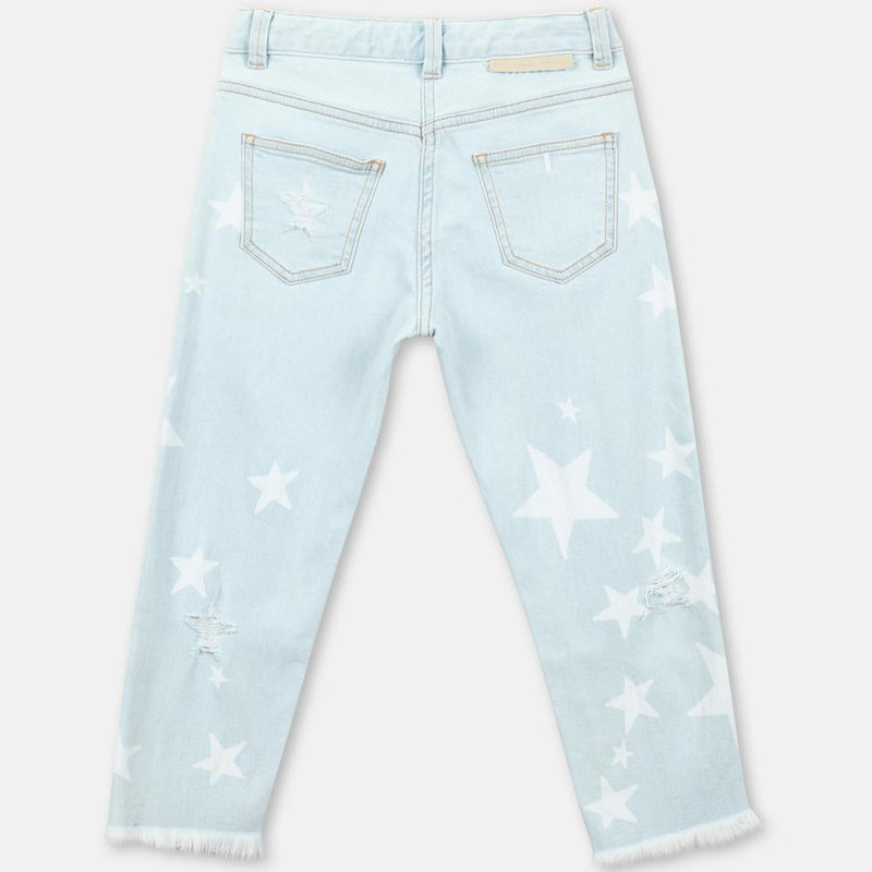 Stella McCartney Distressed Stars Denim Pants Jeans - Tiny People Cool Kids Clothes