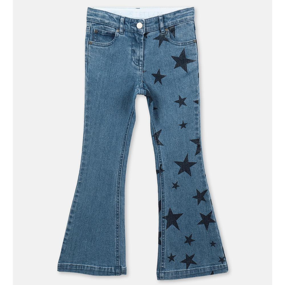 Stars Flare Denim Pants