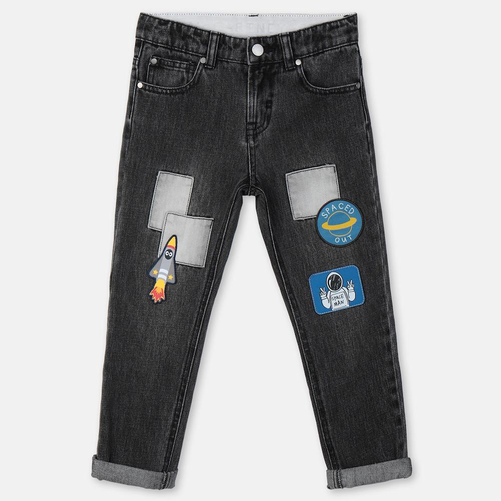 Stella McCartney Boy Jeans with Patches Pants - Tiny People Cool Kids Clothes