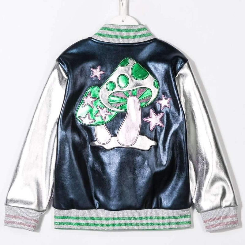 Stella McCartney Shooting Stars Bomber Jacket Outerwear - Tiny People Cool Kids Clothes