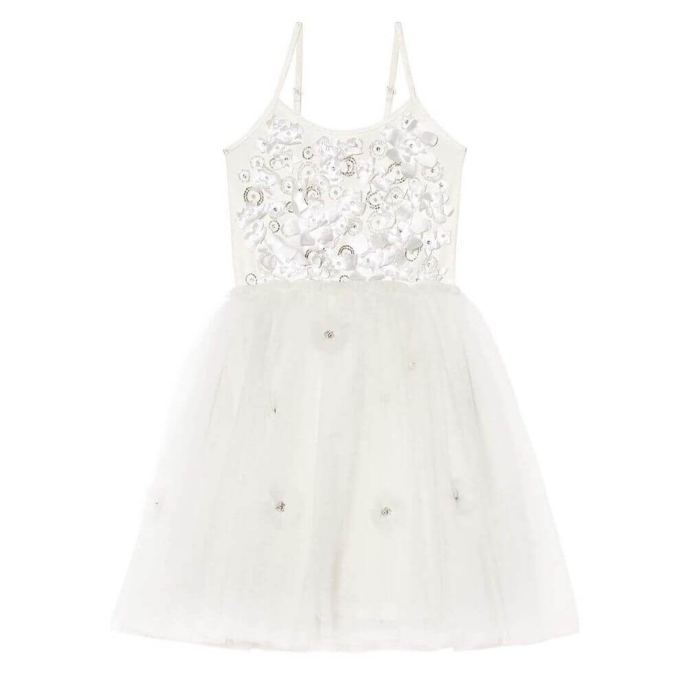 Tutu Du Monde Shimmering Petals Tutu Dress Milk | Tiny People