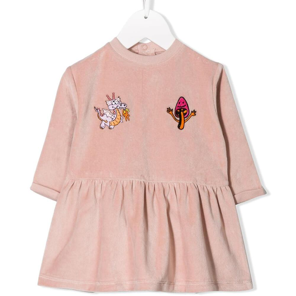 Stella McCartney Friendly Dragon Baby Dress Dresses - Tiny People Cool Kids Clothes