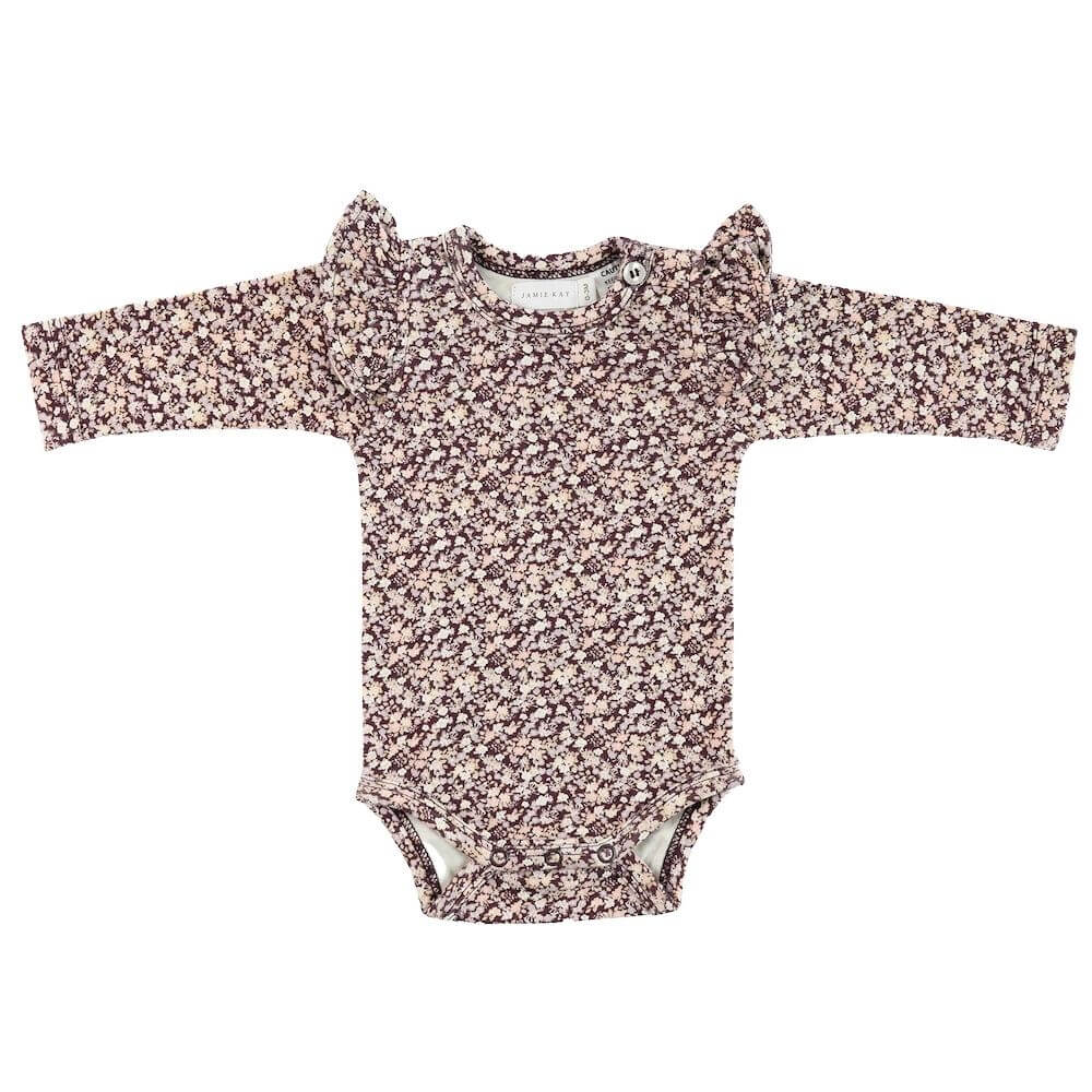 Jamie Kay Frill Bodysuit Lily of the Valley | Tiny People