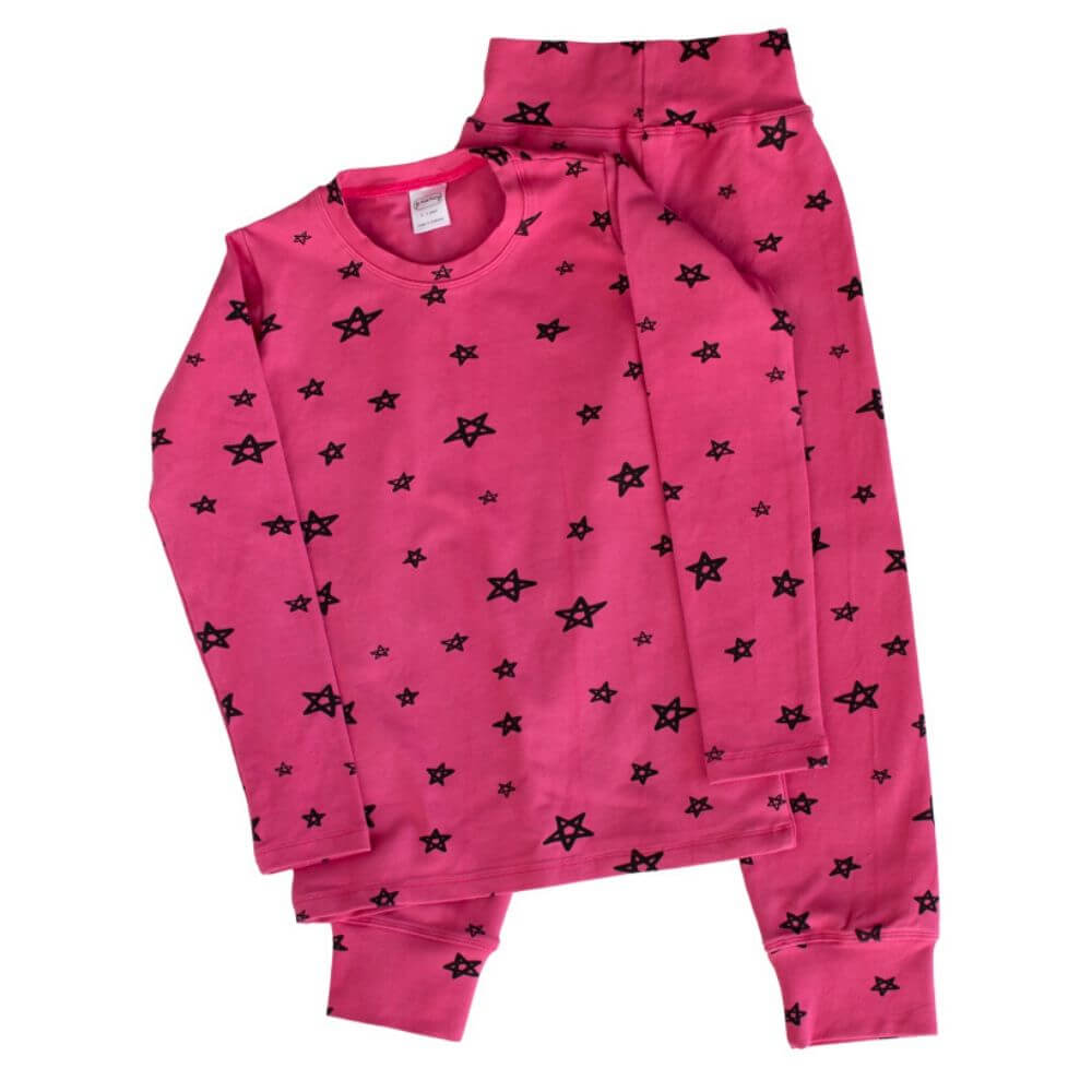 G. Nancy Bougainvillea Star Long Sleeve PJ Set | Tiny People