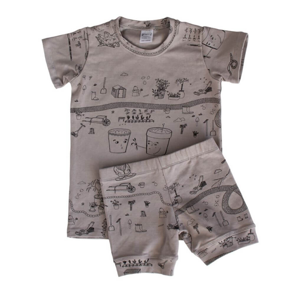 G. Nancy Rain Garden Shortie PJ Set | Tiny People