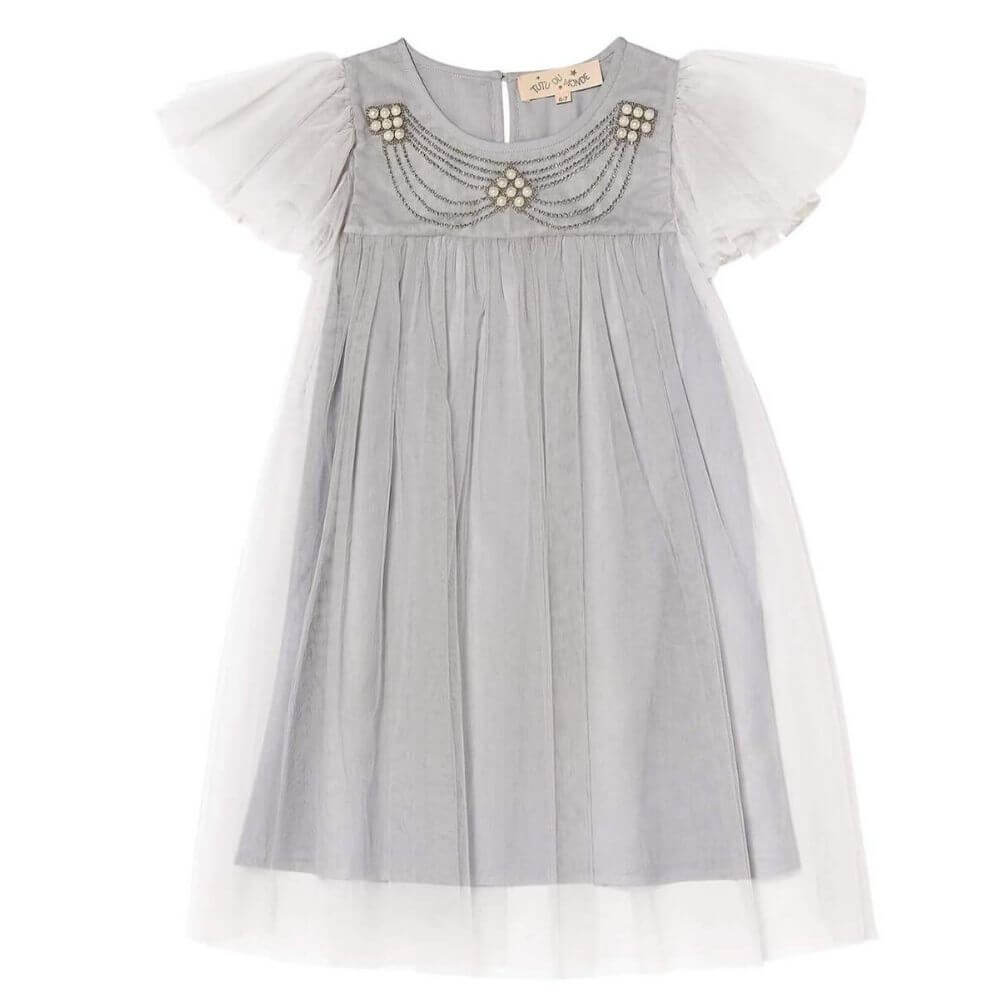 Tutu Du Monde Celestia Tulle Dress Gemstone | Tiny People