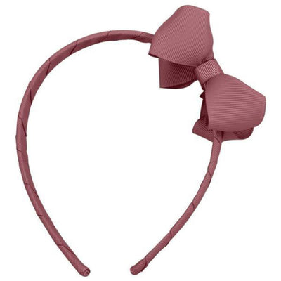 Milledeux Medium Boutique Bow Headband - Rosy Mauve - Tiny People Cool Kids Clothes Byron Bay