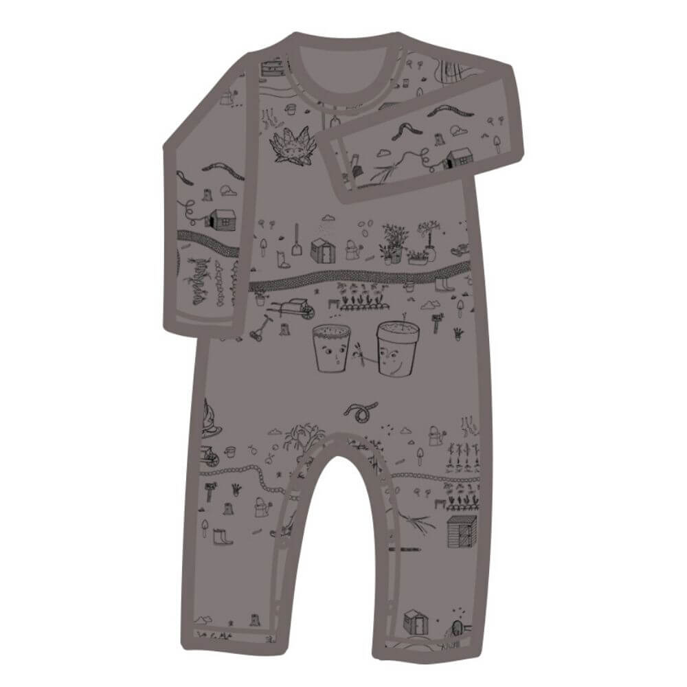 G. Nancy Rain Garden LS Romper | Tiny People