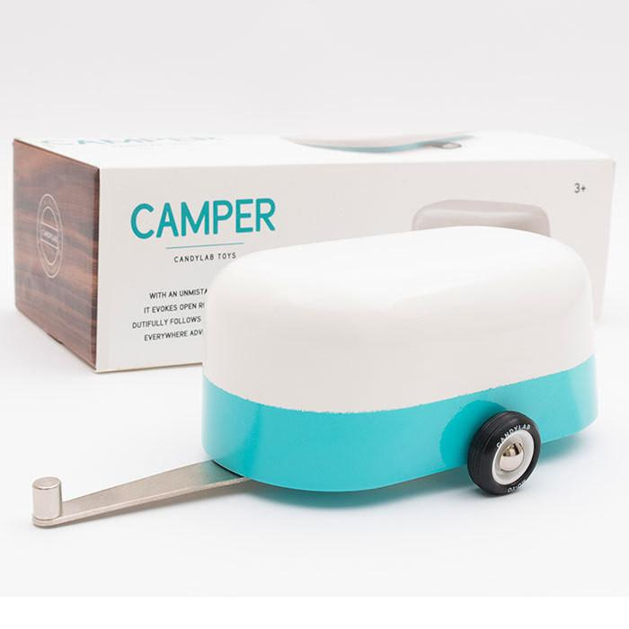 CandyLab Camper Trailer wooden toys - Tiny People Cool Kids Clothes