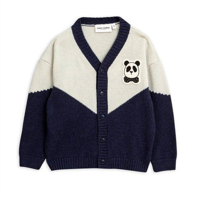 Panda Knitted Wool Cardigan