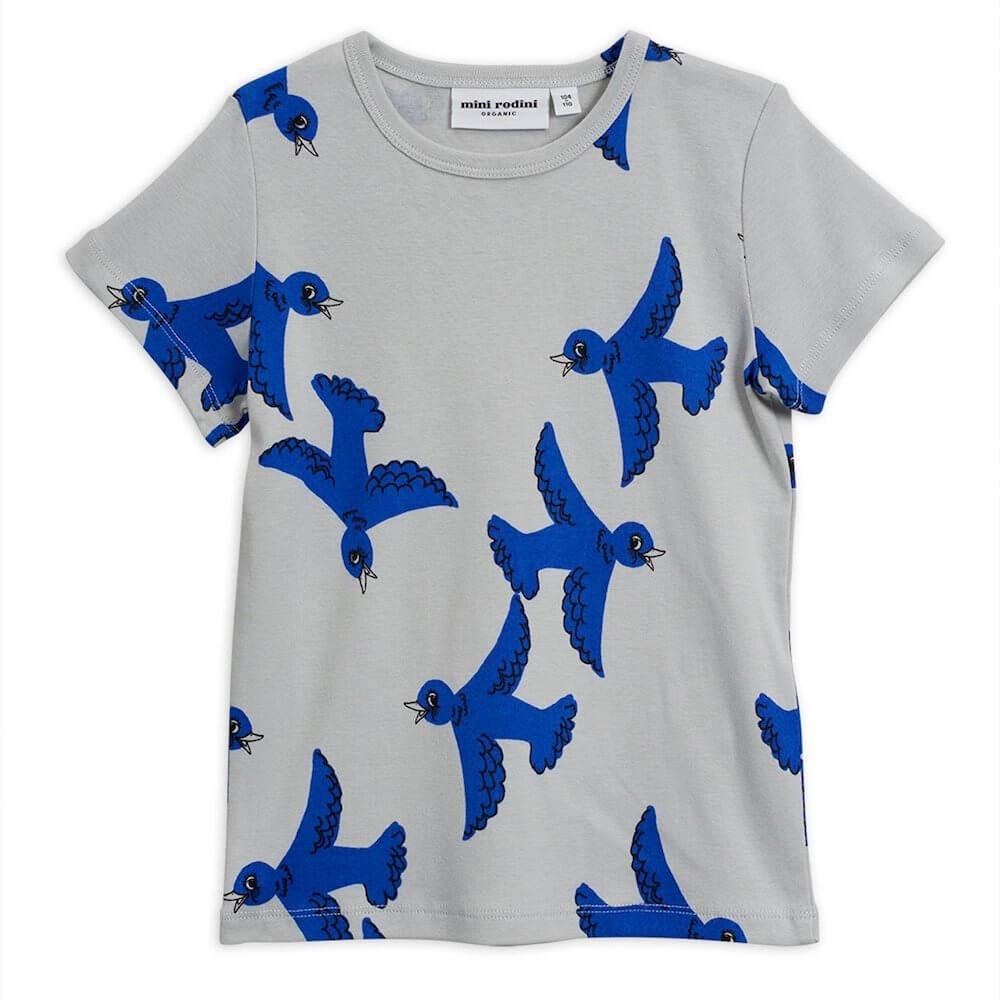 Flying Birds SS Tee Light Grey