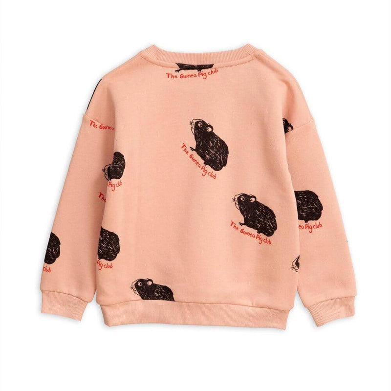 Mini Rodini Guinea Pig Sweatshirt Pink Jumper - Tiny People Cool Kids Clothes