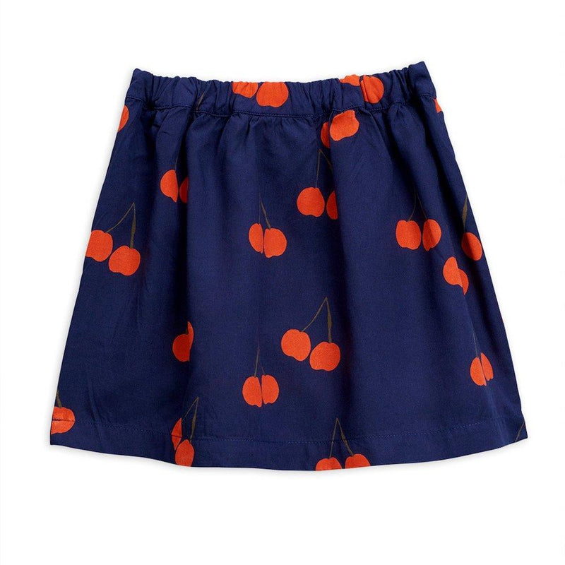 Mini Rodini Cherry Woven Skirt Navy Skirts - Tiny People Cool Kids Clothes