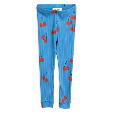 Cherry Leggings Blue