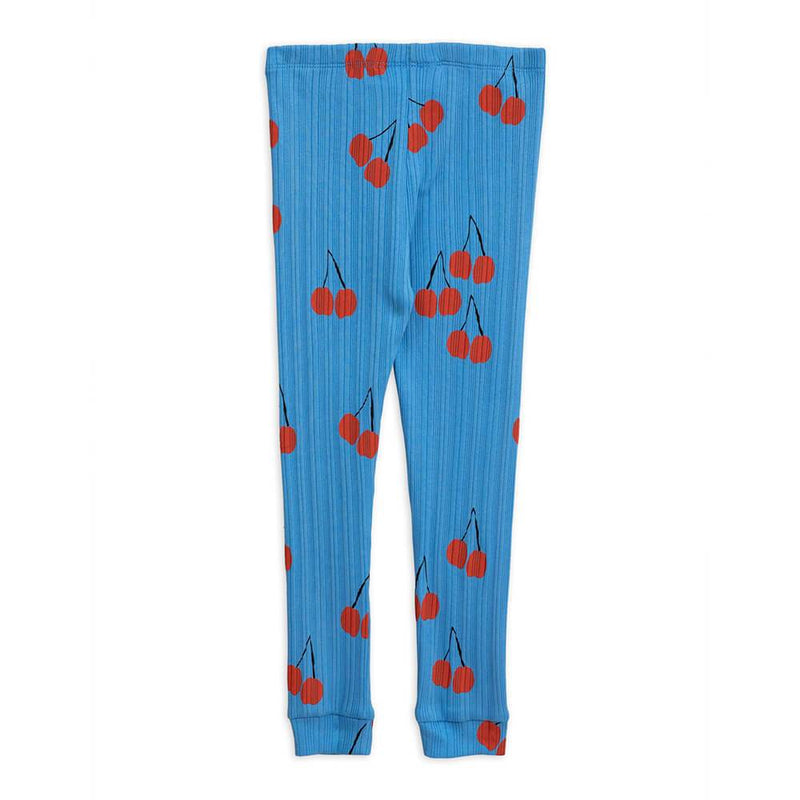 Mini Rodini Cherry Leggings Blue Leggings - Tiny People Cool Kids Clothes