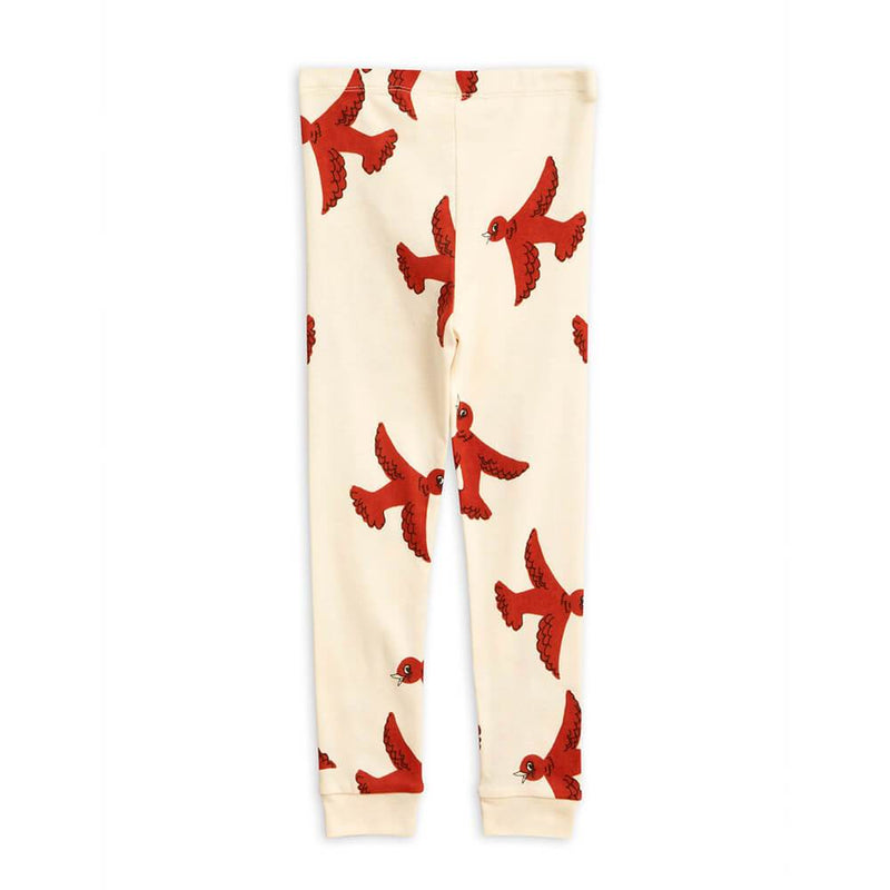 Flying Birds Leggings Off-White