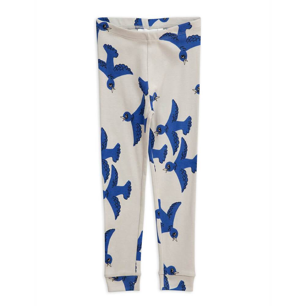 Flying Birds Leggings Light Grey