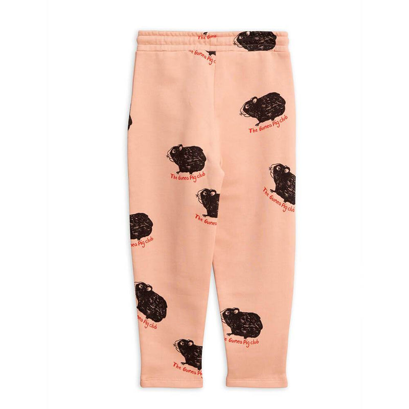Mini Rodini Guinea Pig Sweatpants Pink Pants - Tiny People Cool Kids Clothes