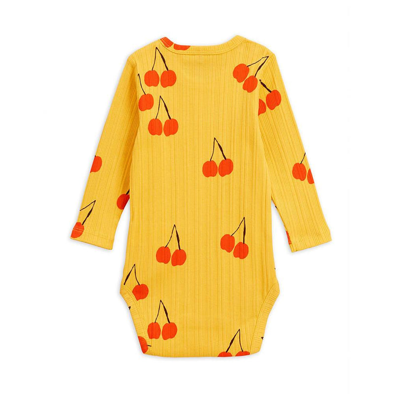 Cherry LS Bodysuit Yellow