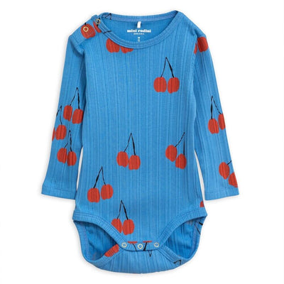 Cherry LS Bodysuit Blue