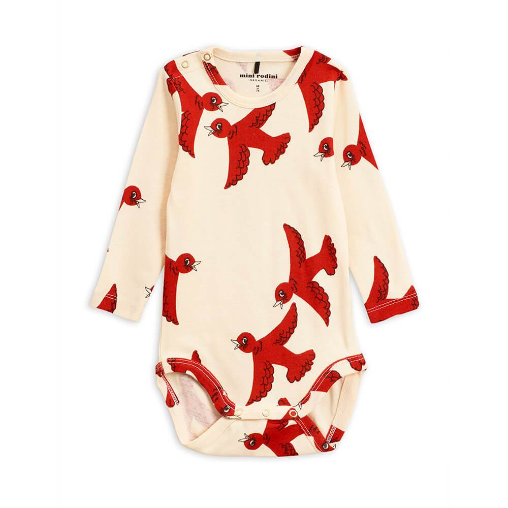 Flying Birds LS Bodysuit Off-White