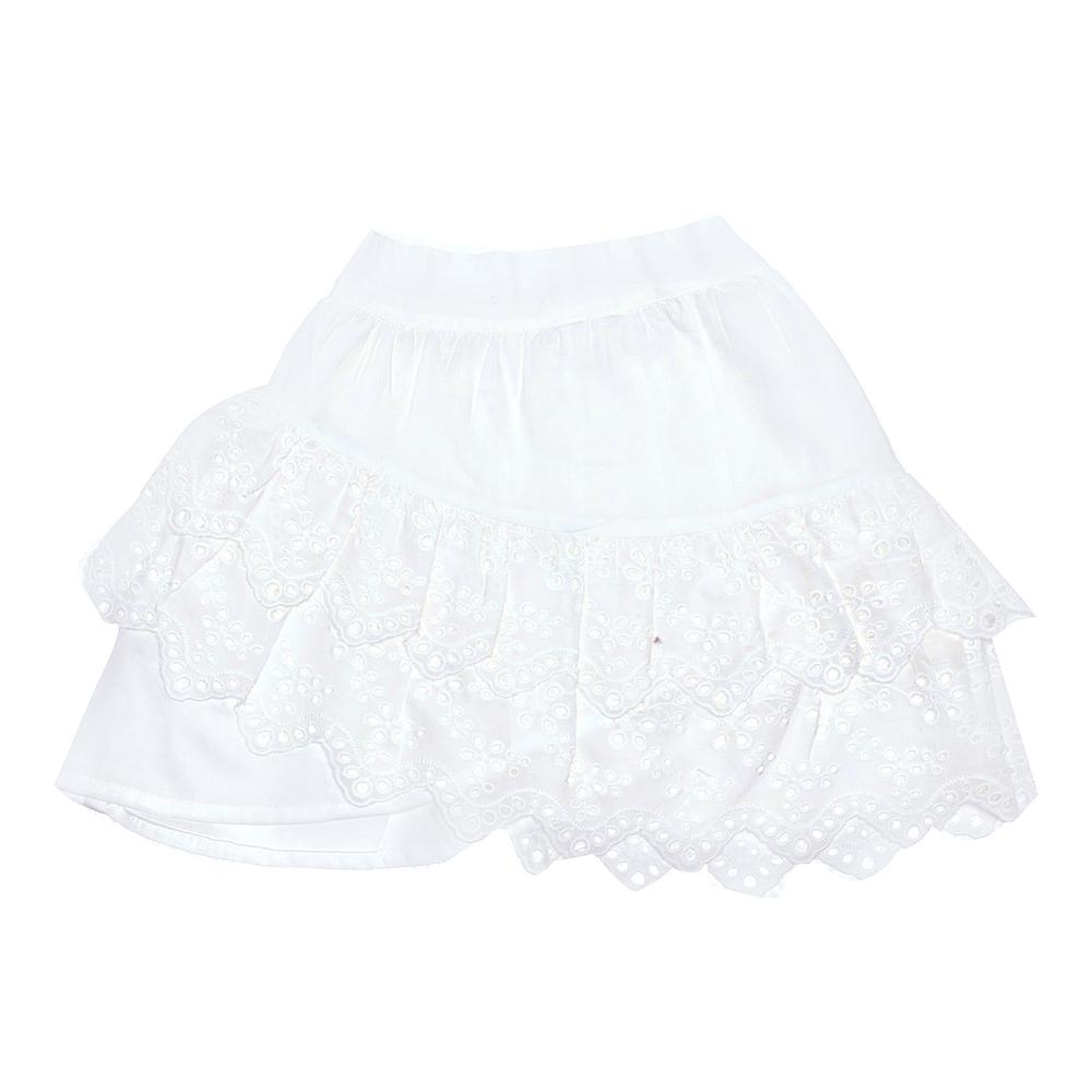 Coco & Ginger Sita Mini Skirt Gardenia and Lace Girls Skirts - Tiny People Cool Kids Clothes