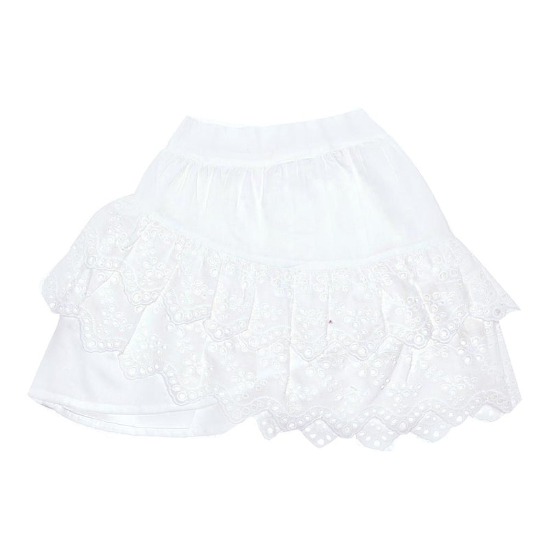 Sita Mini Skirt Gardenia and Lace