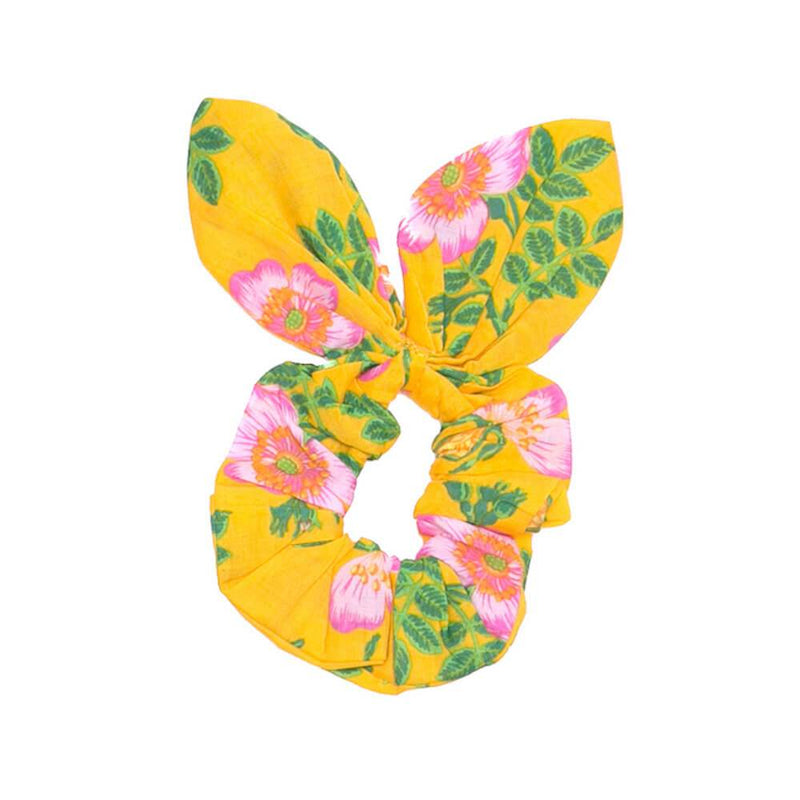 Coco & Ginger Bunny Scrunchie Yellow Dogwood Rose Headbands / Hair Clips - Tiny People Cool Kids Clothes