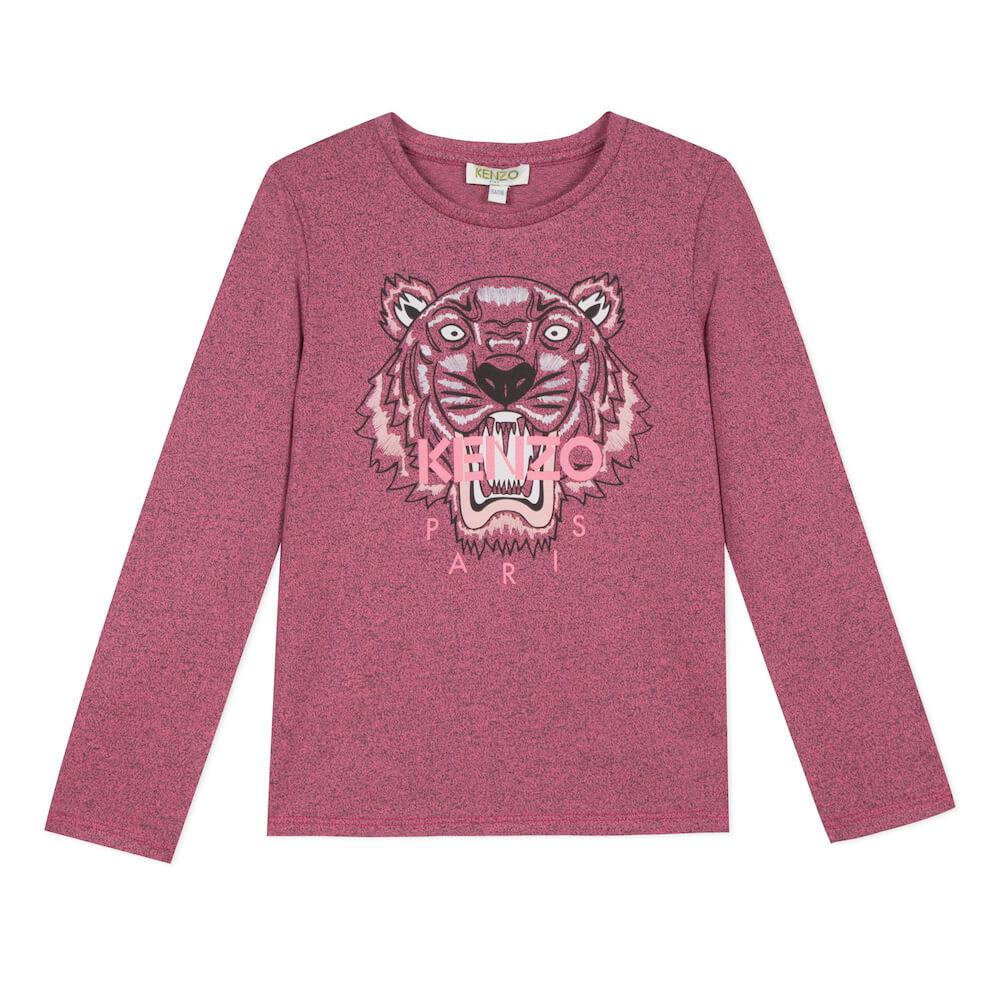 Tiger LS Tee Dark Pink