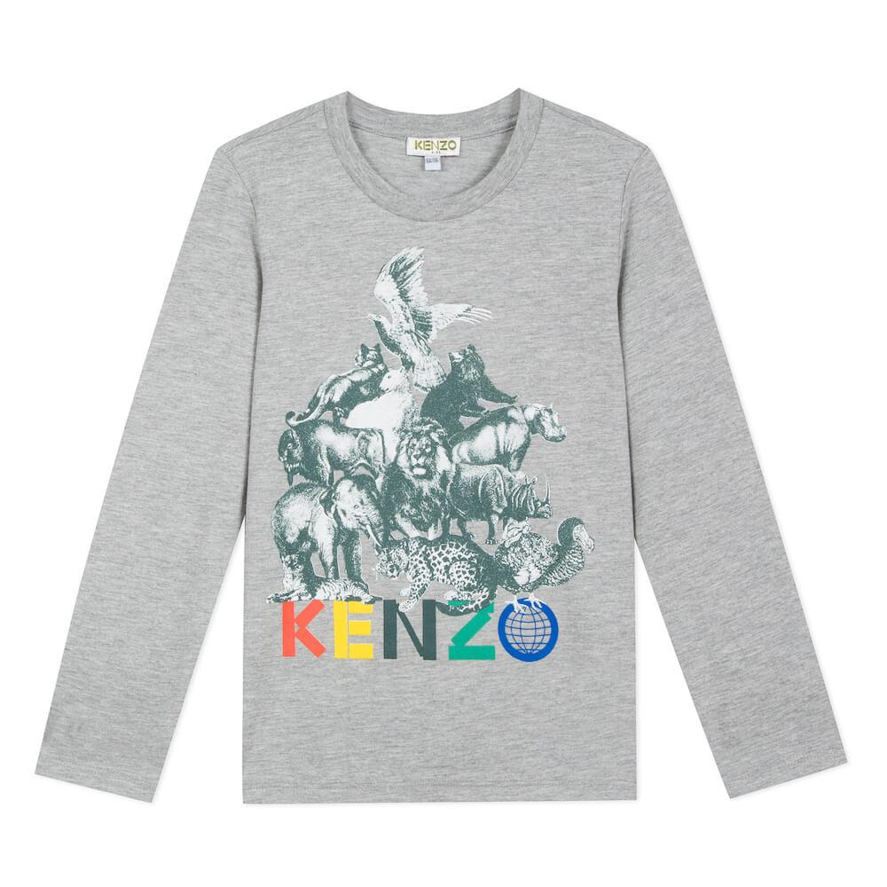 Kenzo Crazy Jungle LS Tee Tops & Tees - Tiny People Cool Kids Clothes