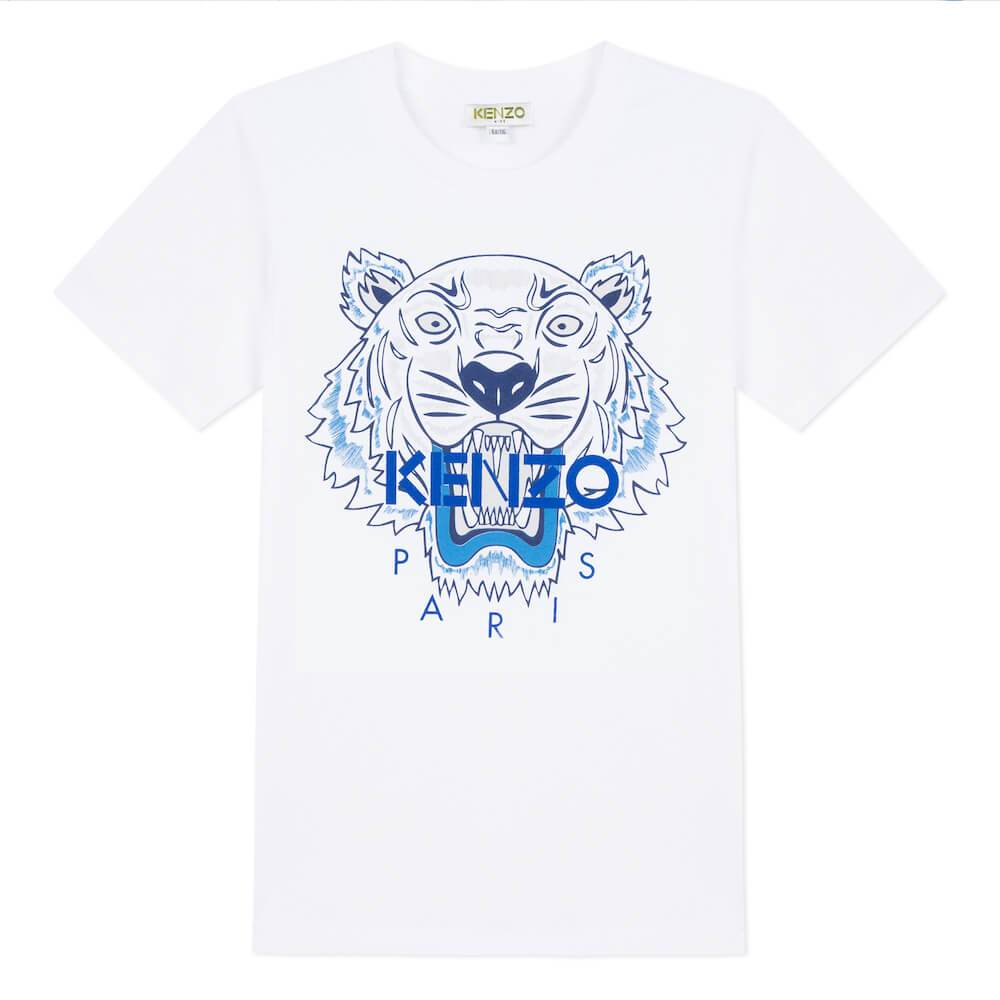 Tiger SS Tee White/Blue