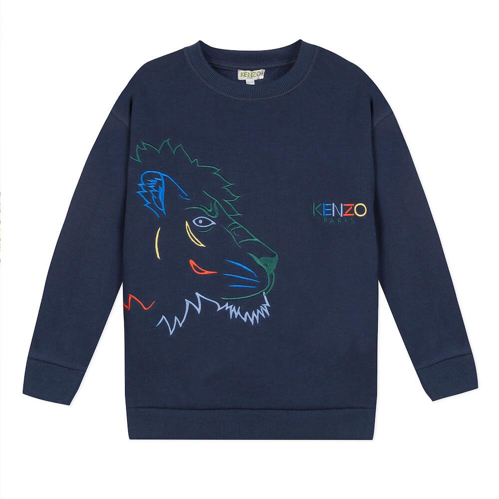Crazy Jungle Navy Sweatshirt
