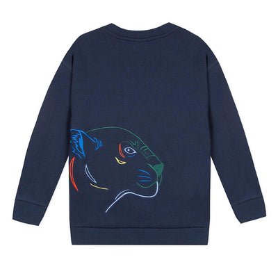 Kenzo Crazy Jungle Navy Sweatshirt Jumper - Tiny People Cool Kids Clothes