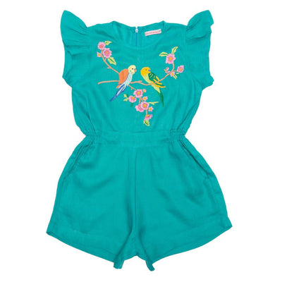 Coco & Ginger Magnolia Playsuit Lapis Girls Jumpsuits - Tiny People Cool Kids Clothes