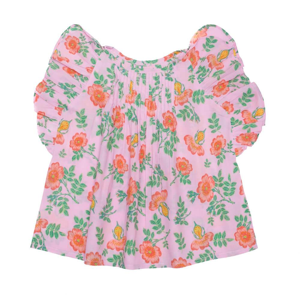 Coco & Ginger Maya Blouse Sorbet Dogwood Rose Girls Tops & Tees - Tiny People Cool Kids Clothes