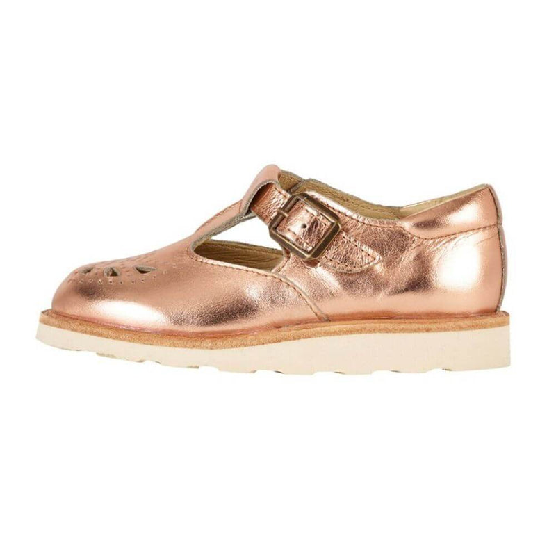 Young Soles Rosie T-Bar Shoe Rose Gold girls footwear - Tiny People Cool Kids Clothes