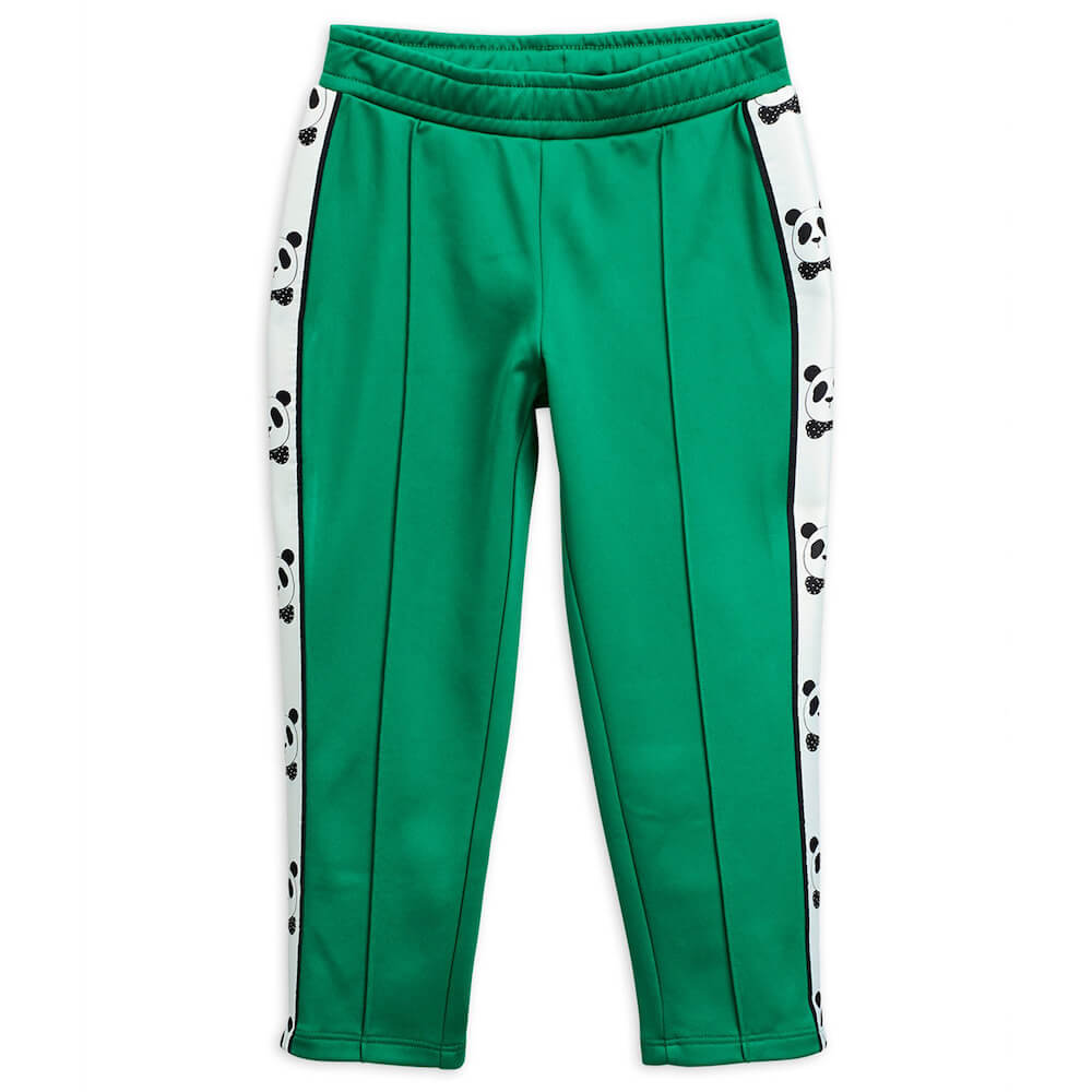 Mini Rodini Panda Green Sweatpants | Tiny People